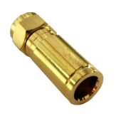 F-Kompressionsstecker Gold 25mm, 8mm - 8.2mm Vollmetall