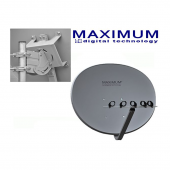 Maximum T85 Multibeam (Multifocus) Sat-Antenne Anthrazit (Original Maximum Antenne mit Maximum Logo)