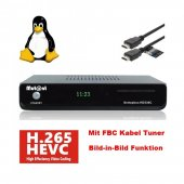 Mut@nt Digital Technology HD 530c HEVC H.265 E2 Linux Kabel Receiver mit 1x FBC Kabel Tuner