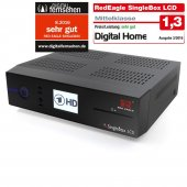 Red Eagle SingleBox LCD E2 Linux Sat Receiver mit 1x CI & 1x Kartenleser