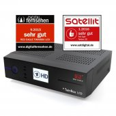 Red Eagle TwinBox LCD E2 Linux Receiver mit 1x Sat Tuner...