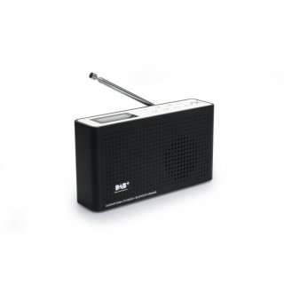 AX soundpath lite+ 4in1 Internet Radio / DAB+ / FM-UKW / Bluetooth Lautsprecher, WLAN WIFI, DLNA, UPnP, tragbar, LCD-Display, Sleep-Timer, Akku, Netzbetrieb, Kopfhöreranschluss - schwarz/weiss
