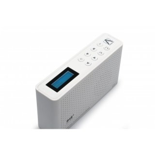 Anadol IDR-1 4in1 Internet Radio / DAB+ / FM-UKW / Bluetooth Lautsprecher, WLAN WIFI, DLNA, UPnP, tragbar, LCD-Display, Sleep-Timer, Akku, Netzbetrieb, Kopfhöreranschluss - weiß