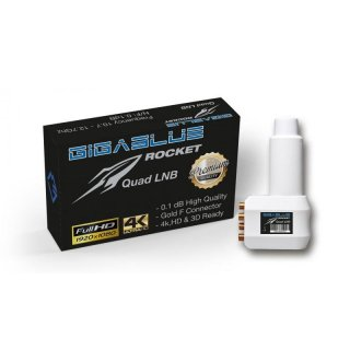 Gigablue Rocket Quad Multifeed LNB 40mm Feed 0.1dB
