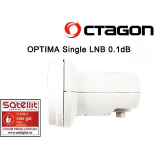 Octagon Single Optima OSLO PLL LNB 0.1dB