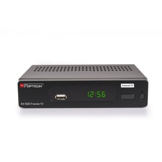 Opticum AX 500 / 570 Irdeto Freenet TV DVB-T2 HD Receiver H265 inklusiv 3 Monate Freenet gratis