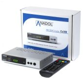 Anadol ADX HD 202c-s PLUS 1080p Full HD Kabelreceiver silber