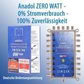 Anadol ZERO WATT 5/16 stromloser Multischalter für 1...