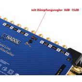Anadol Gold Line 17/16 Multischalter für 4 Satelliten und 16 Teilnehmer, 33 vergoldete F-Stecker gratis