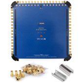 Anadol Gold Line 17/32 Multischalter für 4 Satelliten und 32 Teilnehmer, 49 vergoldete F-Stecker gratis