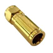 F-Kompressionsstecker Gold 25mm 6.8mm-7.2mm Vollmetall