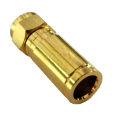 F-Kompressionsstecker Gold 25mm, 8mm - 8.2mm Vollmetall