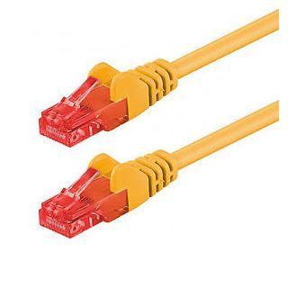 Netzwerkkabel Cat 6, gelb, halogenfrei, S/FTP, PIMF, 2m