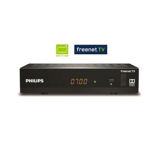 Philips DTR3502B FULL HD DVB-T2 HD H265 Receiver inkl. Irdeto Freenet TV