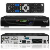 VUGA SAT / VIARK SAT COMBO 1080p FULL HD Hybrid Receiver DVB-S2 + DVB-C/T2 H.265 (HEVC265) USB LAN WLAN schwarz
